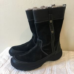 Clarks | Bendables Black Leather Boots
